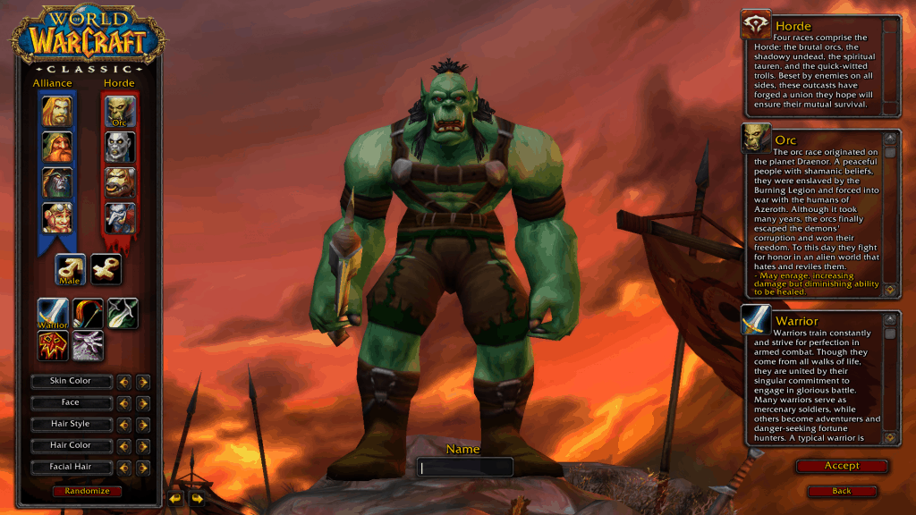 human best race for warrior wow classic