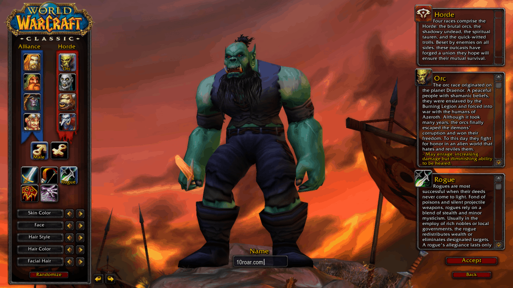 orc best rogue race wow classic