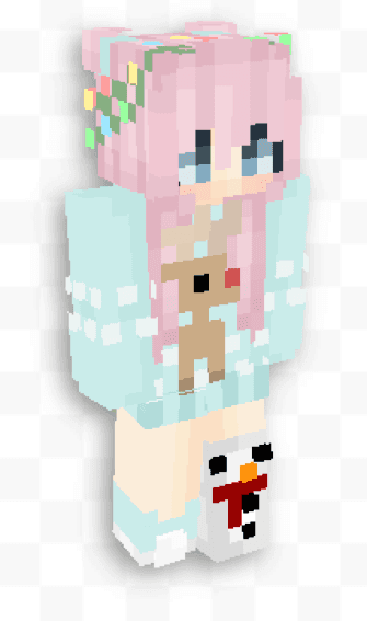pastel colored female best girl skins minecraft