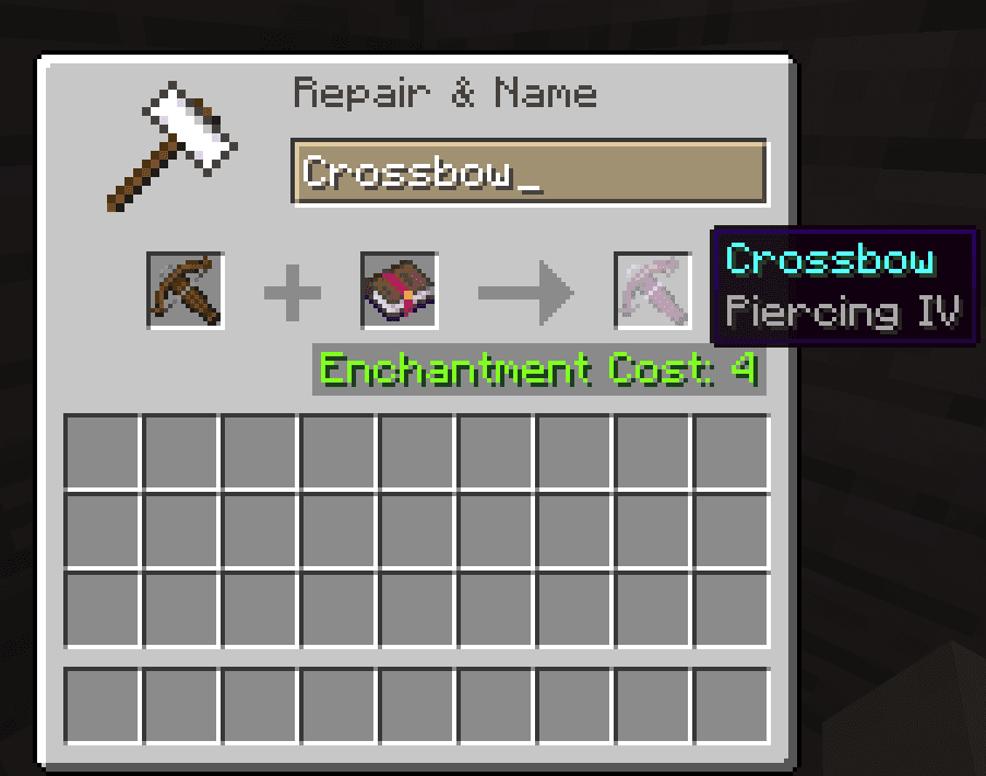 piercing best crossbow enchantments minecraft