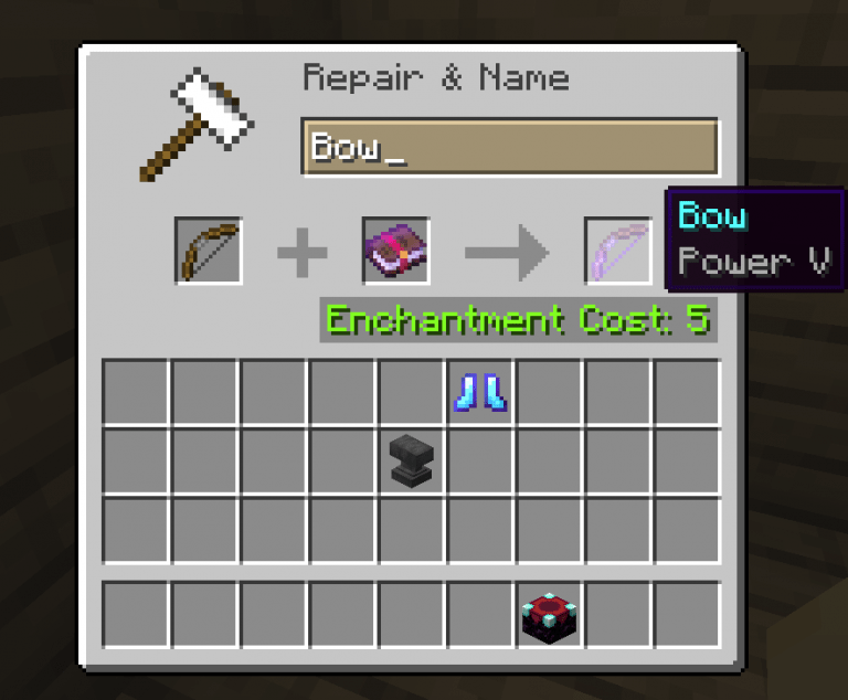 best bow enchantments minecraft