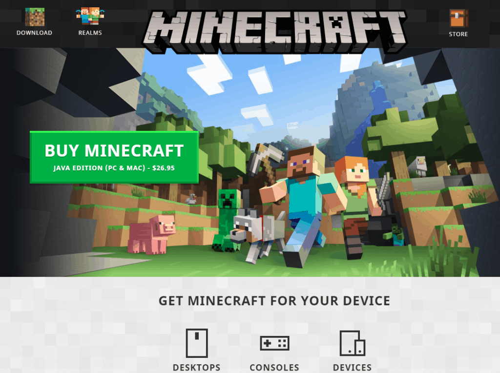 pricing minecraft the best game