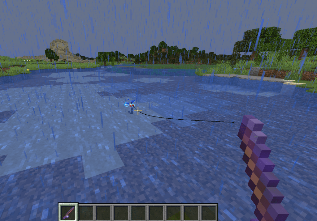 raining best fishing rod minecraft