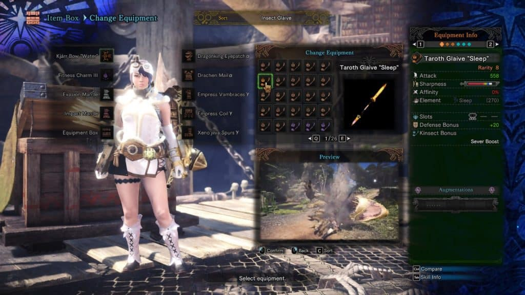 taroth glaive sleep best insect glaives monster hunter world