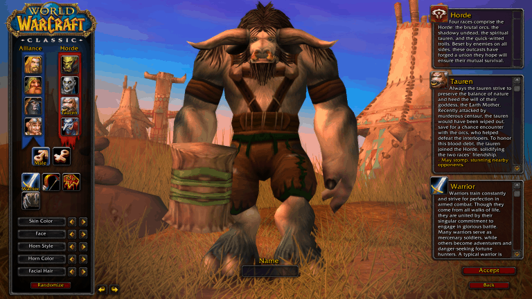 best race for warrior wow classic