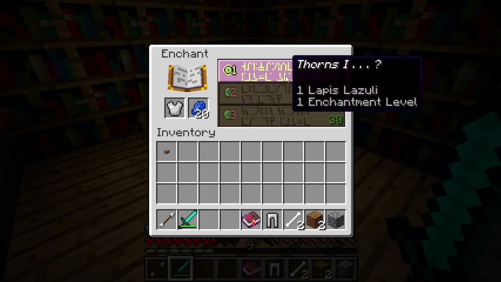 thorns enchants best armor enchantments minecraft