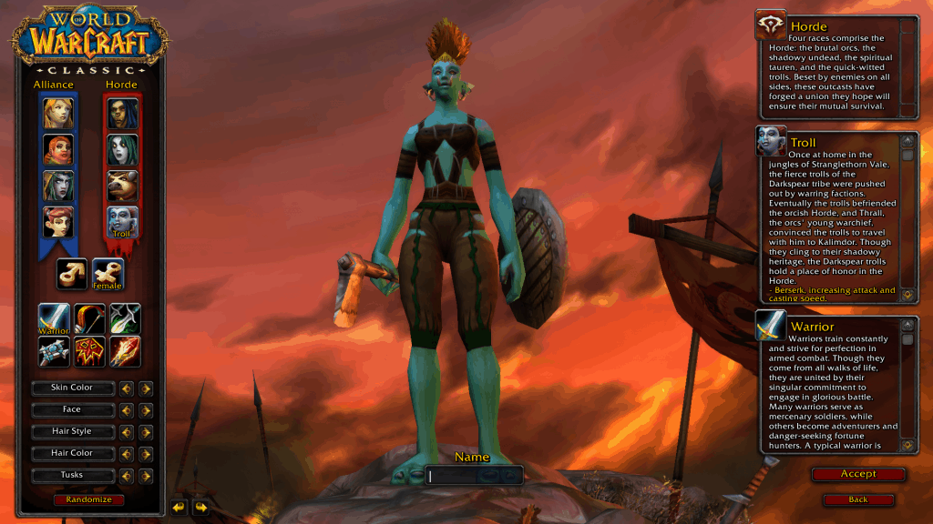 troll best race for warrior wow classic