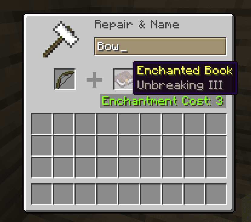 unbreaking best bow enchantments minecraft