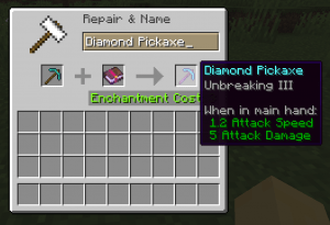 best pickaxe enchantments minecraft