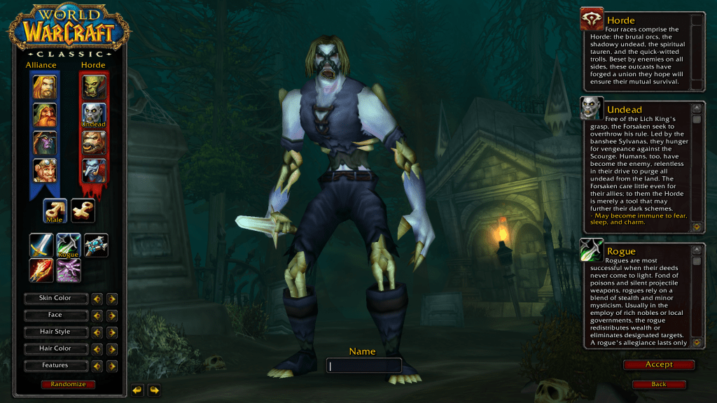 undead best rogue race wow classic